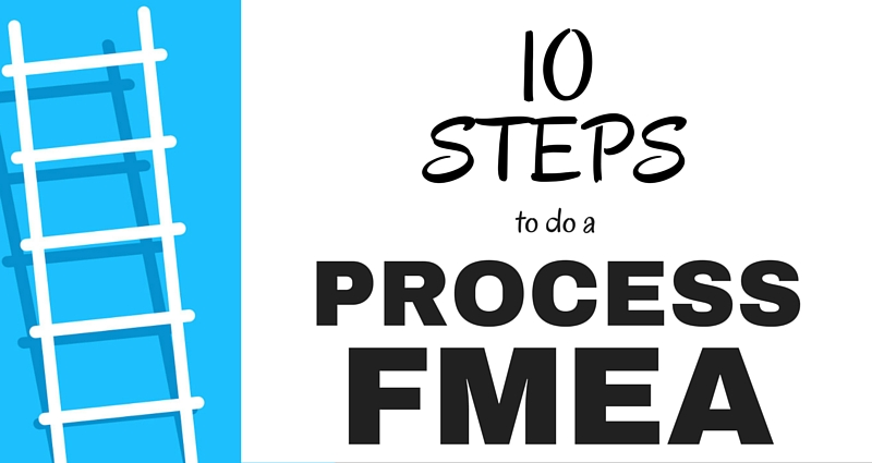 10 Steps to doing a Process Failure Mode and Effects Analysis