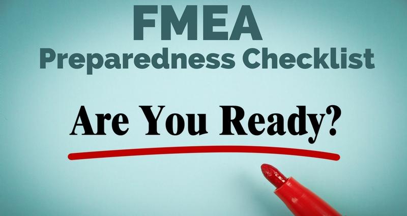 FMEA Preparedness Checklist