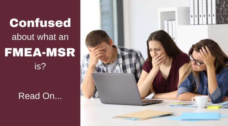 What are FMEA-MSRs?
